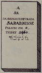 RI-1145-7 Gedenksteen van de Zerken van Portugesche Israelieten, gevonden op de Buitenplaats Groenendaal in Crooswijk, ...