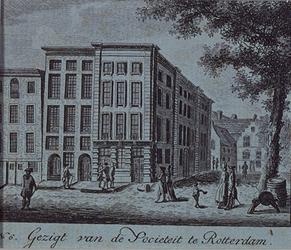 RI-1155 Gezicht op de Wijnhaven, noordzijde bij de Zwarte Hondsteeg. Dit gebouw is later aan het Rijk overgegaan en ...