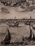 RI-117-3 Blad 3 van het 6-bladig prospect van Rotterdam, behorend bij de `Maaskaart', uitgegeven door Jacob Quack. ...