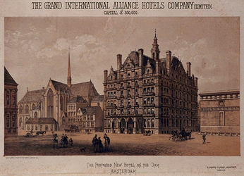 RI-1182-1 The proposed new hotel on the Dam Amsterdam G. Somers Clake, architect, London.