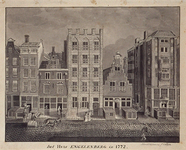 RI-1187 Het huis Engelenberg in de Hoogstraat anno 1772.