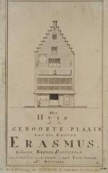 RI-1189 Het huis waar Erasmus is geboren, aan de Wijde Kerksteeg.