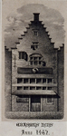 RI-1190 Erasmushuis, aan de Wijde Kerksteeg, anno 1467.