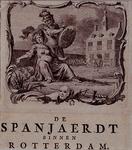 RI-1229-3 9 april 1572Zinnebeeldige voorstelling van de verovering van Rotterdam door de Spanjaarden. Op de achtergrond ...