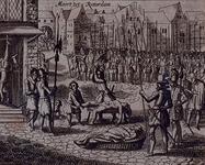 RI-1230-1 9 april 1572Spaanse soldaten begaan wreedheden na de verovering van Rotterdam.