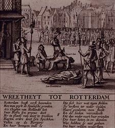 RI-1230-2 9 april 1572Spaanse soldaten begaan wreedheden na de verovering van Rotterdam.