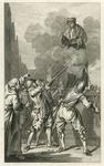 RI-1231A 9 april 1572.Spanjaarden beschieten het standbeeld van Erasmus op de Groote Markt.