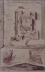 RI-1234 22 december 1573.Enkele Spanjaarden proberen de schans aan de Poldervaart (bij de Delftse Schie) te ...
