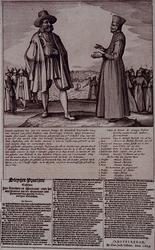 RI-1257 17 oktober 1624Aankomst te Amsterdam van gevangen genomen gouveneur-generaal van Brazilië, Diego de Mendosa ...