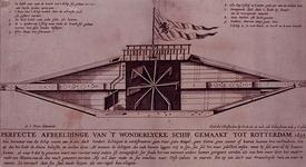 RI-1267 Het wondelijke schip Blixem van de See is gemaakt in Rotterdam. De afmeting van het schip is: de lengte 72 ...