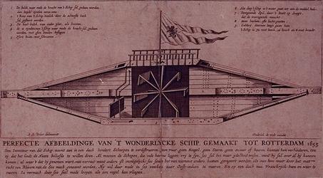 RI-1268 Het wondelijke schip Blixem van de See is gemaakt in Rotterdam. De afmeting van het schip is: de lengte 72 ...