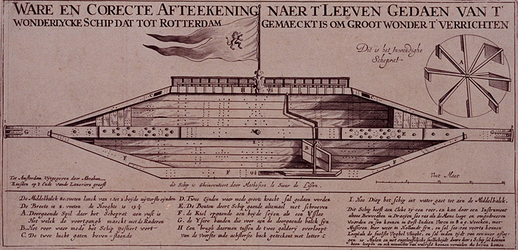 RI-1269 Het wondelijke schip Blixem van de See is gemaakt in Rotterdam. De afmeting van het schip is: de lengte 72 ...
