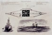 RI-1272 Een oud en een nieuw schip. Het wondelijke schip Blixem van de See is gemaakt van Rotterdam en Nieuw Amerikaans ...