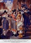 RI-1276-3 1665De burgerwacht voor het stadhuis.
