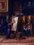 RI-1294 De hertog van Marlbourough laat zich portretteren door de Rotterdamse schilder A. van der Werff.