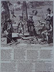 RI-1305-1 1720Spotprent op de weinig betrouwbare handel in effecten, de zogenaamde windhandel.