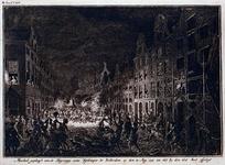 RI-1320 17 augustus 1751Plundering van het huis en het pakhuis van de wijnkoper Gerrit Hagedoorn, aan de oostzijde van ...