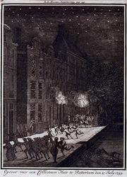 RI-1326 25 juli 1759Oproer voor het huis van een collecteur.