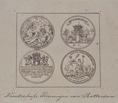 RI-1333 Gouden en zilveren vroedschapspenningen, geslagen in 1770