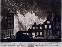 RI-1359-1 19 maart 1782Brand in de brouwerij De Twee Leeuwen aan de westzijde van de Leuvehaven.