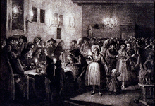 RI-1368 30 maart 1784Ondertekening van het zoopjesrekwest waarmee door orangisten opheffing van het patriotse vrijkorps ...