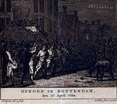 RI-1371-1 3 april 1784De 9de Schutterscompagnie onder leiding van luitenant Van Zwijndregt verweert zich voor het ...