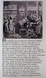 RI-1374 1784Spotprent op Antonie Berkhuis, adelborst van de 9de compagnie die de suikerbakkerswinkel Het Lam is ...