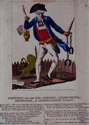 RI-1377 1784Spotprent op de patriotse adelborst P. de Waal.