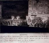 RI-1384-3 10 juli 1784Patriotten en orangisten van de elfde compagnie raken bij de Draaisteeg en de Hoofdsteeg slaags, ...