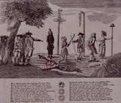 RI-1386-1 Spotprent op een gefingeerde executie van Kaat Mossel.