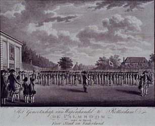 RI-1399 Het genootschap van wapenhandel de Palmboom, opgericht 23 juni 1784.Onder de spreuk: Voor Stad en Vaderland.