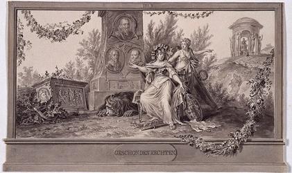 RI-1413-10 24 april 1786Afbeelding van de Geschonden Rechten, vervaardigd ter gelegenheid van het Alliantiefeest tussen ...