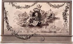 RI-1413-12 24 april 1786Schilderij ter ere van admiraal J.A. Zoutman.Afbeelding vervaardigd ter gelegenheid van het ...