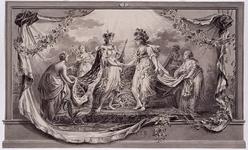 RI-1413-3 24 april 1786Symbolische afbeelding van de Alliantie, vervaardigd ter gelegenheid van het Alliantiefeest ...