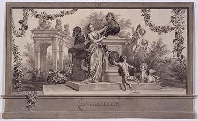 RI-1413-4 24 april 1786Symbolische afbeelding van de Dankbaarheid, vervaardigd ter gelegenheid van het Alliantiefeest ...