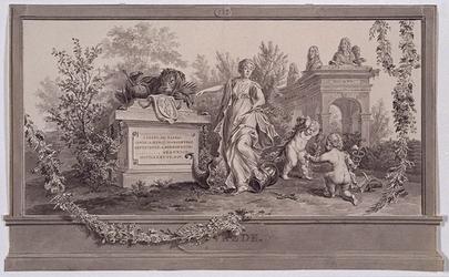 RI-1413-5A 24 april 1786Symbolische afbeelding van de Vrede, vervaardigd ter gelegenheid van het Alliantiefeest tussen ...