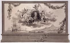 RI-1413-6 24 april 1786Afbeelding ter ere van De Bouille, vervaardigd ter gelegenheid van het Alliantiefeest tussen ...