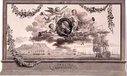 RI-1413-7 24 april 1786Afbeelding ter ere van De Sveeren, vervaardigd ter gelegenheid van het Alliantiefeest tussen ...