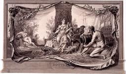 RI-1413-8 24 april 1786Symbolische afbeelding van Rotterdam, vervaardigd ter gelegenheid van het Alliantiefeest tussen ...