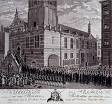 RI-1419-2 3 april 1787Remotie van enige regenten bij het stadhuis aan de Hoogstraat.