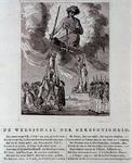 RI-1420 1787Spotprent getiteld de weegschaal der gerechtigheid.