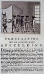 RI-1421 1787Spotprent op de inzittenden van de krijgsraadkamer in de Doele.