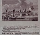 RI-1427 1787Spotprent op het verlaten van de stad Gorinchem door de Amsterdamse, Rotterdamse, Leidse en andere hulptroepen.
