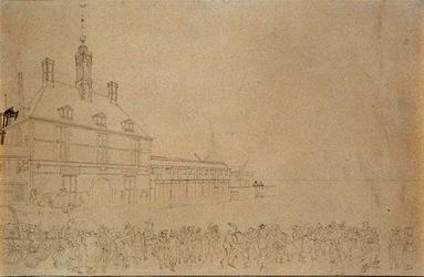 RI-1428 1787. Intocht der Pruisische troepen bij de Oostpoort.