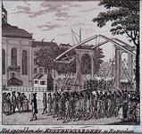 RI-1432 1787Optocht van Oranjegezinde rustbewaarders na de komst van de Pruisen.