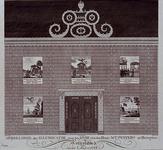 RI-1445-I 8 maart 1788Illuminatie voor het huis van M.T. Peypers op het Haringvliet ter gelegenheid van de verjaardag ...