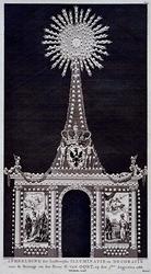 RI-1452-I 7 augustus 1788Afbeelding van de illuminatie en decoratie voor het huis van H. van Oort ter gelegenheid van ...