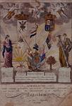 RI-1453-1-TM-3 7 augustus 1788Afbeelding van een versiering bij het huis van Ad.Groenendijk aan de Wijnhaven ter ...