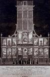 RI-1456 8 maart 1788Afbeelding van de illuminatie en decoraties van het huis der Oprechte Vaderlandse Sociëteit op het ...