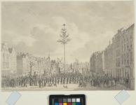 RI-1481 1795Dansen om de Vrijheidsboom, op de Nieuwe Markt.